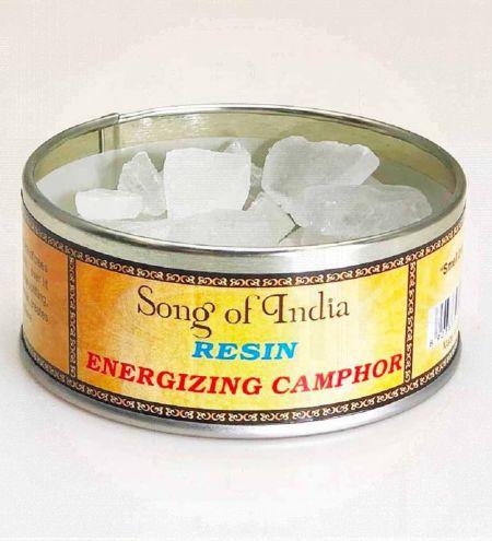 Energizing Camphor Resin in Tin Jar